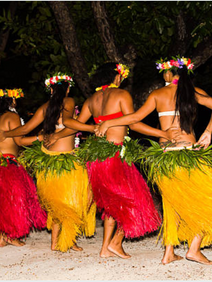 Tahitian dancers performing at welcome reception