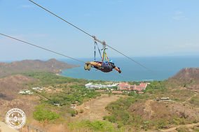 Incentive trip winner zip lining in Costa Rica