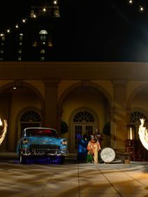 Fire throwers at Havana Nights evening reception