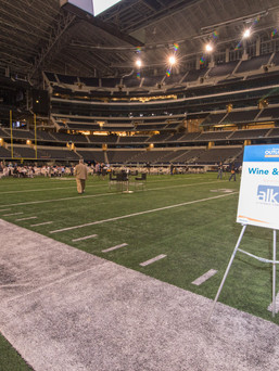 Dining experience on football field