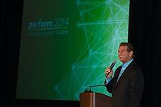 Joe Theismann impresses the user confere
