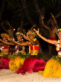 Tahitian dance group at welcome reception