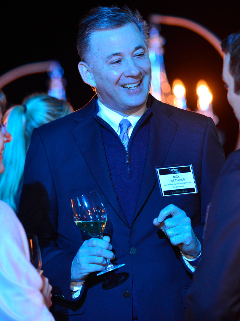 Networking at corporate event