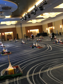 Setup of team building event at Flexera Sales Kickoff