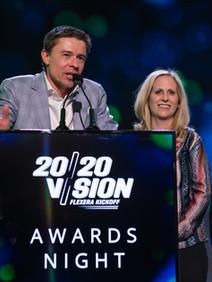 Sales kickoff awards ceremony