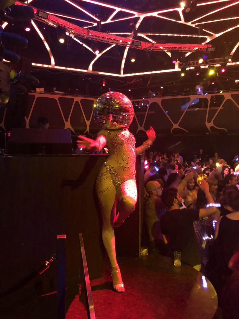 Disco mask dancer