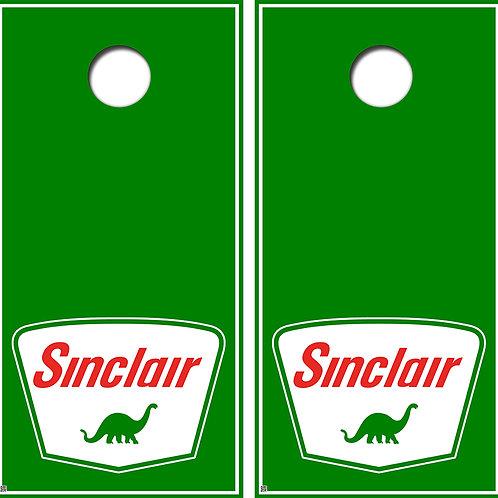 Sinclair Oil Cornhole Board Skin Wraps FREE LAMINATE