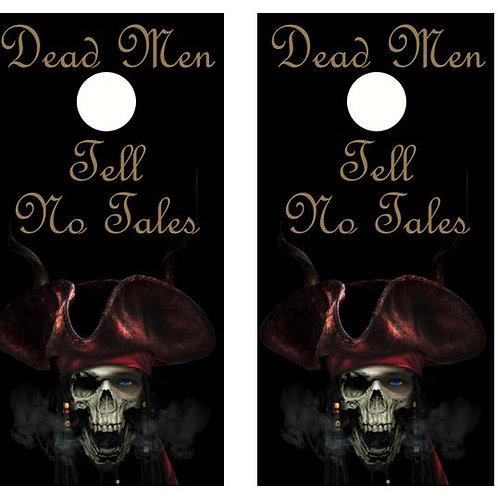 Dead Men Tell No Tales Cornhole Wood Board Skin Wrap