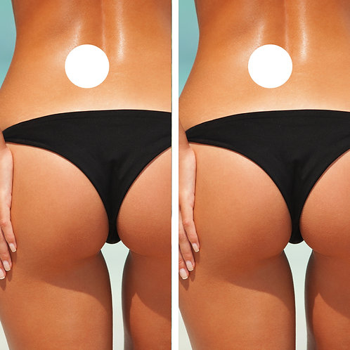 Black Bikini Bottom Girl Cornhole Wrap FREE LAMINATE