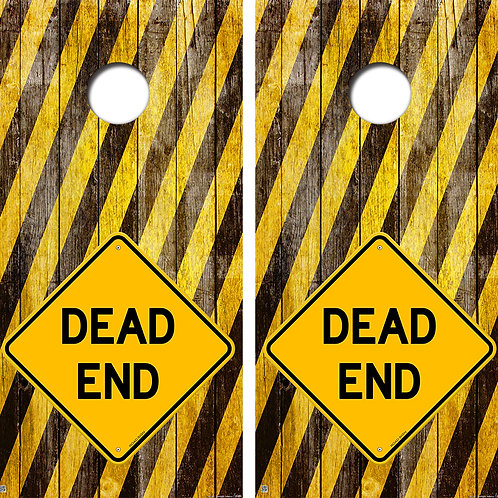 Dead End Cornhole Board Skin Wraps FREE LAMINATE