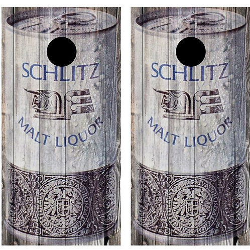 Vintage Schlitz Malt Liquor - Beer Can Barnwood Cornhole Woo