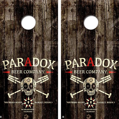 Paradox Beer Company Cornhole Board Skin Wraps FREE LAMINATE