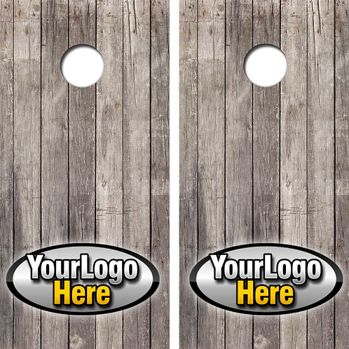 Your Own Custom Logo Cornhole Board Skin Wrap Decal Set FREE SQUEEGEE