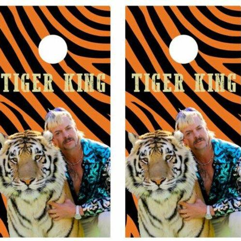 Tiger King Cornhole Wood Board Skin Wrap