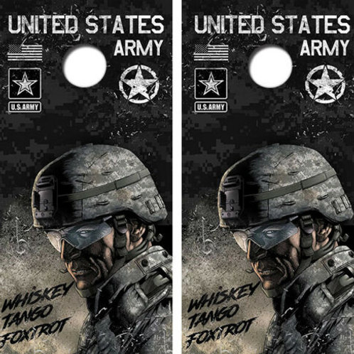United States Army Cornhole Wood Board Skin Wrap