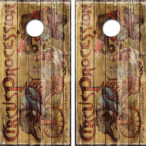 Circus Cornhole Board Skin Wraps FREE LAMINATE