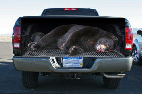 Big Fat Black Bear Truck Bed Truck Tailgate Wrap Vinyl Graphic Decal S
