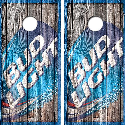 Bud Light Logo Cornhole Wood Board Skin Wraps FREE LAMINATE