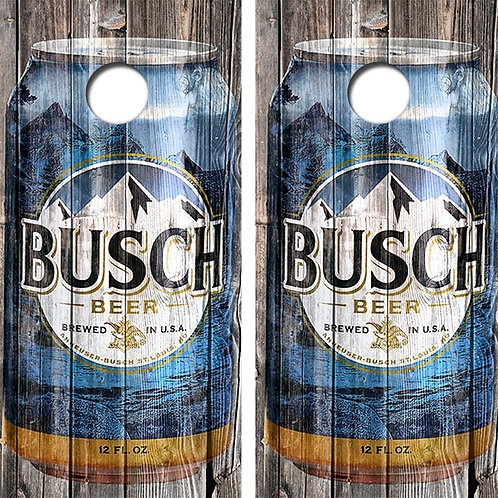 Busch Beer Cornhole Wood Board Skin Wraps FREE LAMINATE