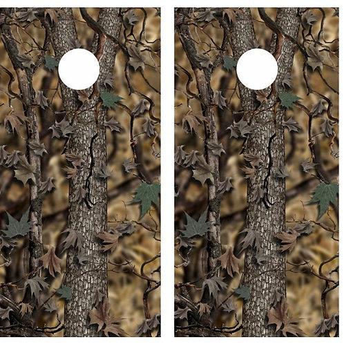 Real Tree Camo Cornhole Wood Board Skin Wrap