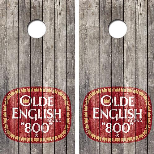 Olde English Cornhole Board Skin Wraps FREE LAMINATE