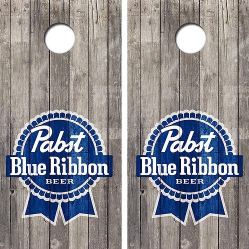Pabst Blue Ribbon Vintage Cornhole Board Skin Wrap FREE LAMINATE