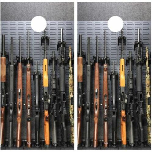 Gun Safe Cornhole Wood Board Skin Wrap