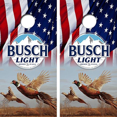 Busch Light Pheasant Cornhole Wood Board Skin Wrap