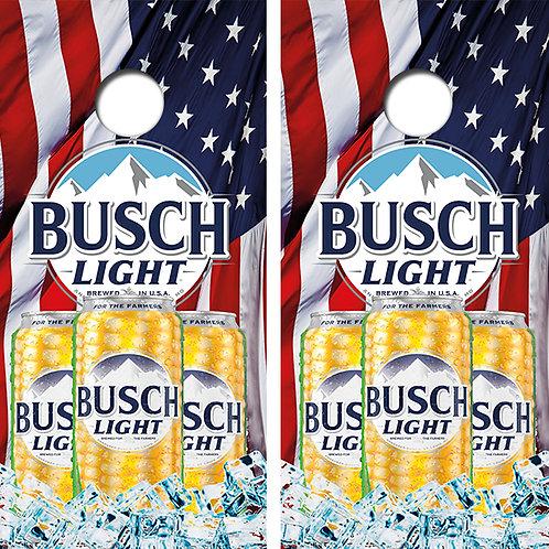 Busch Light Beer Cornhole Wood Board Skin Wraps FREE LAMINATE