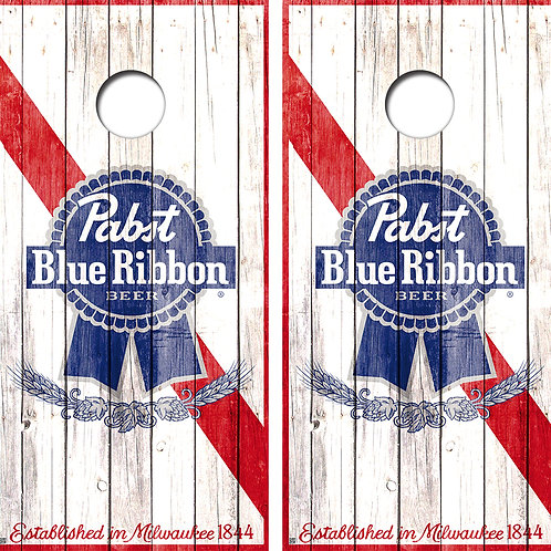 Pabst Blue Ribbon Vintage Conhole Board Skin Wraps FREE LAMINATE