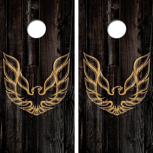 Firebird Cornhole Wood Board Skin Wraps FREE LAMINATE