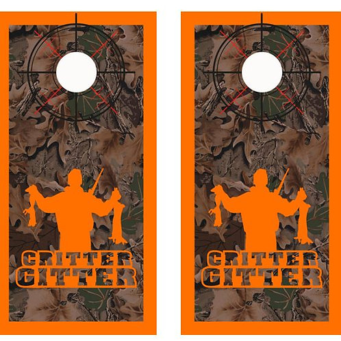 Critter Gitter Real Tree Camo Cornhole Wood Board Skin Wr