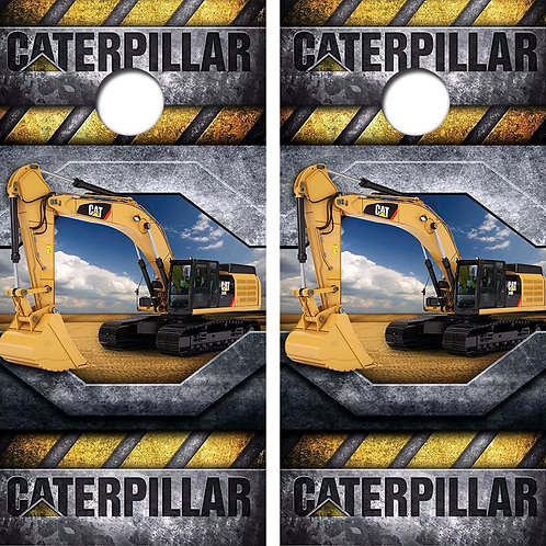 Catepillar Construction Cornhole Wood Board Skin Wraps FREE LAMINATE