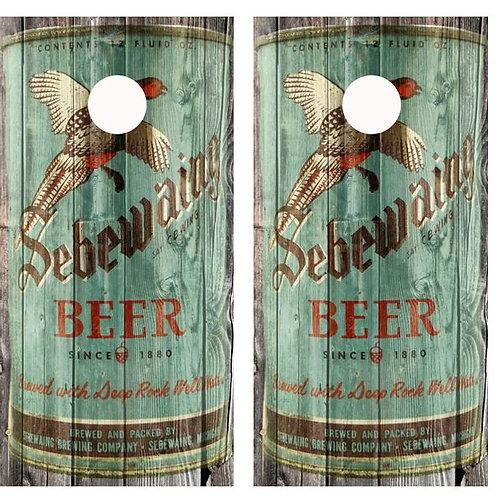 Vintage Sebewaing Beer Pheasant -  Beer Can Barnwood Cornhole Wood B