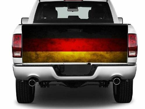Grunge German Flag Truck Tailgate Wrap Vinyl Graphic Decal Sticker