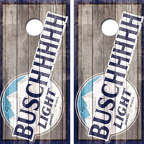 BUSCHHHHH Light Cornhole Wood Board Skin Wraps FREE LAMINATE