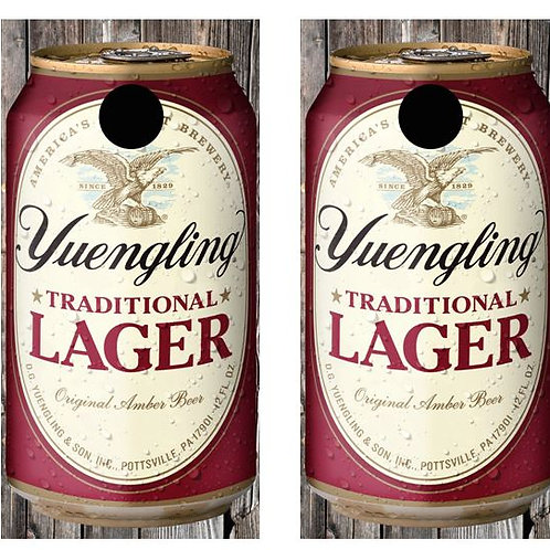 Yuengling Lager Beer Can Cornhole Wood Board Skin Wrap