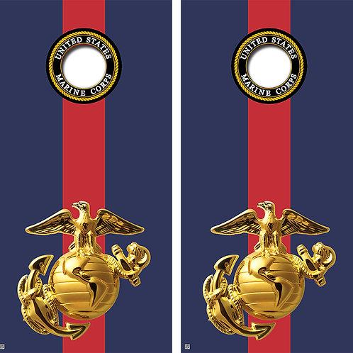 United States Marine Corps Cornhole Board Wraps FREE LAMINATE