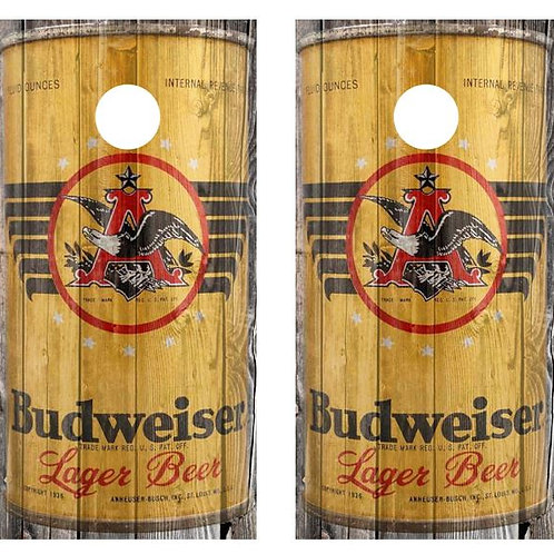 1936 Budweiser Beer Can Barnwood Cornhole Wood Board Skin Wraps