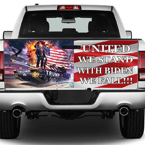 Trump United We Stand Truck Tailgate Wrap Vinyl Graphic Decal Sti