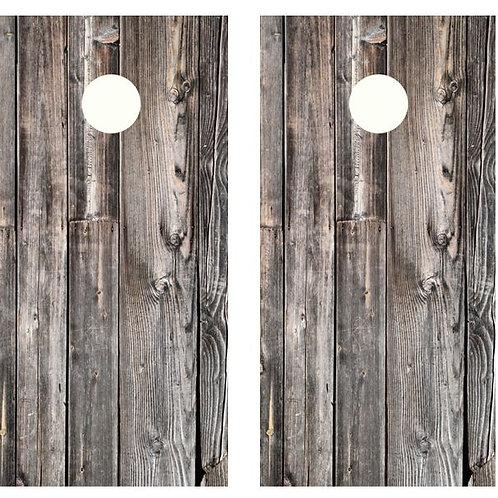 Barnwood Cornhole Wood Board Skin Wrap