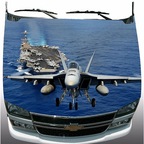 U.S. Navy F18 Hornet Jet Hood Wrap Vinyl Graphic Decal Sticker Wrap Car or Truck