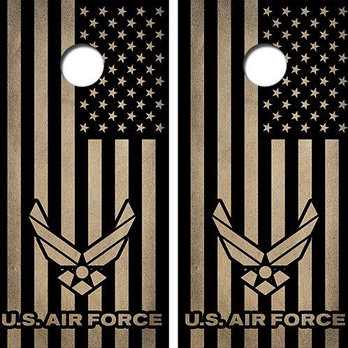United States Air Force Cornhole Wood Board Skin Wrap
