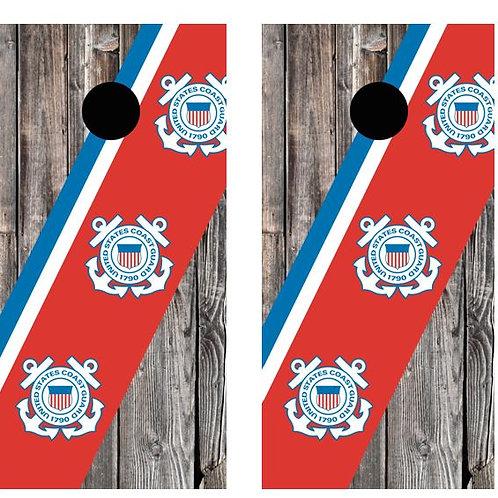 US Coast Guard Barnwood Cornhole Wood Board Skin Wr