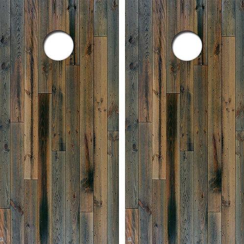 Blue Pine Cornhole Wood Board Skin Wrap