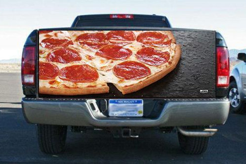 Pepperoni Pizza Tailgate Wrap Vinyl Graphic Decal Sticker Wrap