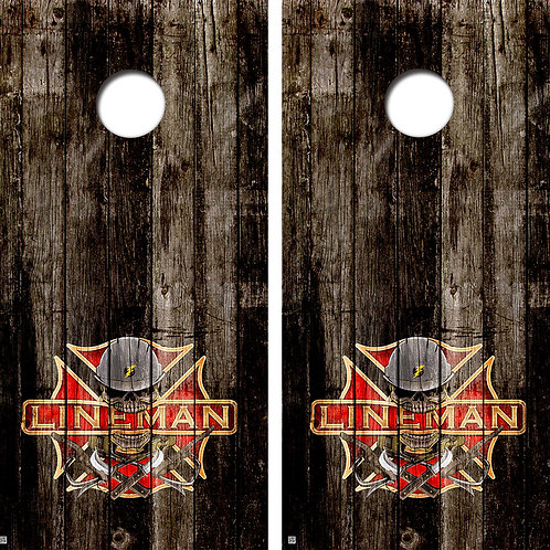 Lineman Firefighter Conhole Board Skin Wraps FREE LAMINATE