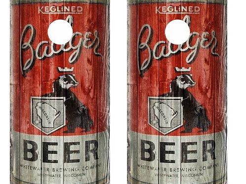 Vintage Badger Beer -  Beer Can Barnwood Cornhole Wood B