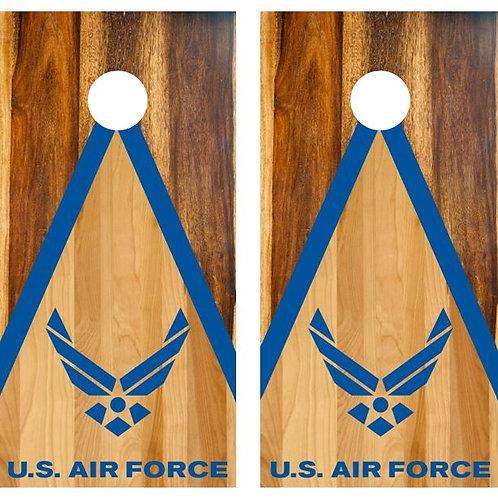 U.S. Air Force Two Tone Wood Cornhole Wood Board Skin Wrap