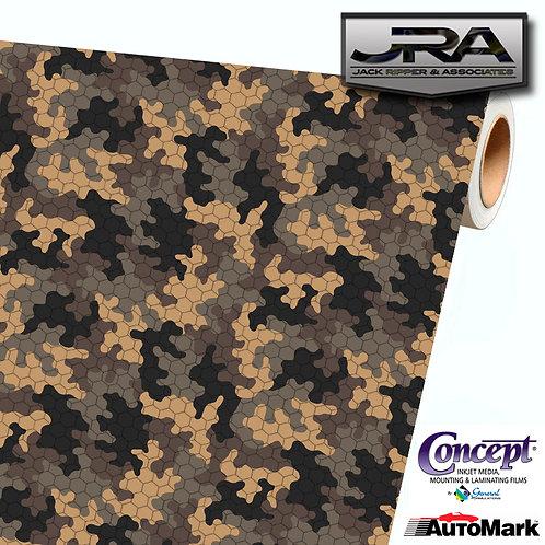 BROWN TAN Digital Camouflage Vinyl Car Wrap Camo Film Decal Sheet Roll